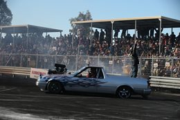 Ford XF Falcon ute burnout DIESEL
