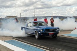 65 Mustang Fastback burnout