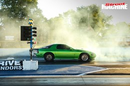 Mazda RX7 twin turbo V8 Drag Week