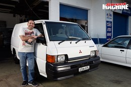 Mitsubishi van V8 twin turbo