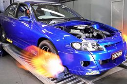 TWIN TURBO VT CLUBSPORT READY FOR DRAG CHALLENGE