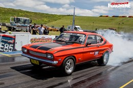 TURBO LS FORD CAPRI AND TWIN-TURBO LS MITSUBISHI EXPRESS VAN AT DRAG CHALLENGE