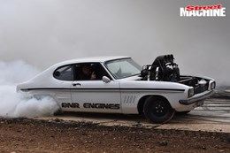 Ford Capri blown burnout MAD SAM