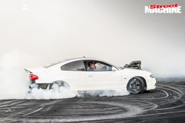 FEAR Holden Monaro blown burnout