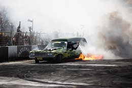 Vanman burnout fire