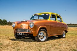 Austin A50 V8 burnout car