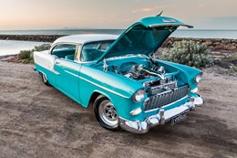 55 Chev LS1 twin turbo