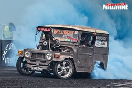 FJ40 Landcruiser blown burnout INFERNO nw
