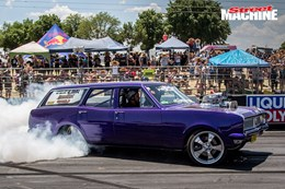 HG Holden wagon QPNCY burnout 2 nw