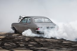 LC Torana blown burnout