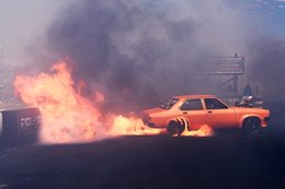 Torana burnout fire PEPER IT