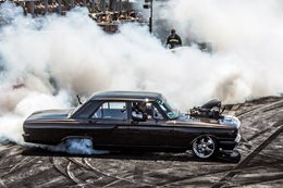 Compact Fairlane blown burnout