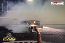 VF Commodore NUTTR burnout nw