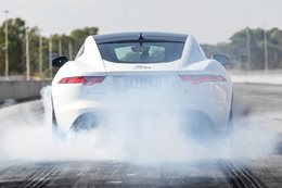 Jaguar F-Type showcases V8 engine