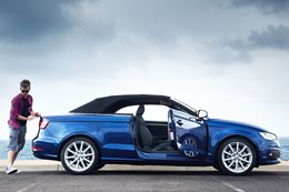 Audi A3 Cabrio with James Whitbourn