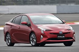 2016 red Toyota Prius