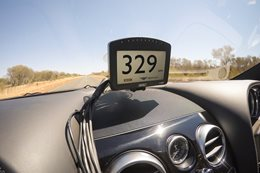 Bentley hits 330 on Australia's Stuart Highway