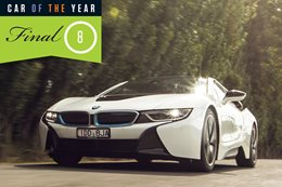 2016 Wheels Car of the Year finalist BMW i8