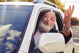 Elderly drivers are speeding past youth