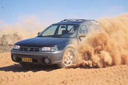 Subaru Legacy in the Australian Outback