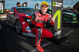Tim Slade breaks his V8 Supercars duck at wild Winton