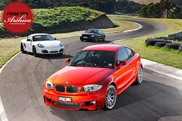 BMW 1M vs Audi TT RS vs Porsche Cayman