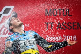 Jack Miller celebrating win at Assen 2016