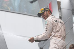 Lewis Hamilton celebrates win at Austrian F1 GP
