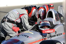 Will Power in Indycar race car