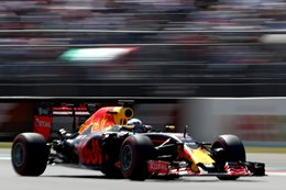 Daniel Ricciardo driving for Red Bull in Formula One