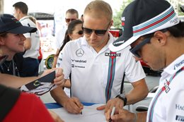 Bottas Formula One race car driver