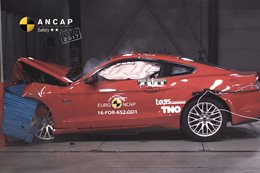 2017 Ford Mustang ANCAP crash