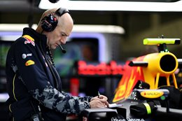 Red Bull race car technician