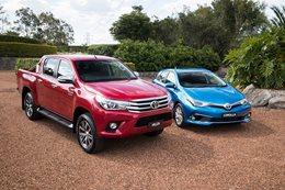 Toyota HiLux and Toyota Corolla
