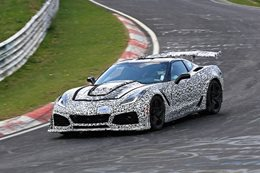 2018 Chevrolet Corvette ZR1 prototype attacks Nurburgring in the snow