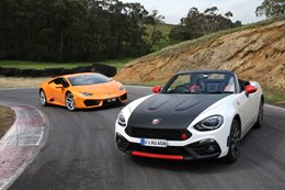Lamborghini Huracan LP580-2 vs Fiat Abarth 124 Spider: Can you put a price on fun?