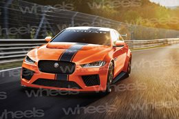 Jaguar's XE SV Project 8 spied testing at Nurburgring