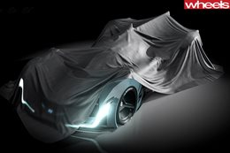 hyundai supercar headlights front under wraps