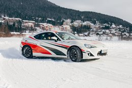 Toyota 86 on ice cover MAIN