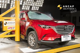 Mazda CX-9 undergoing ANCAP crash test