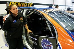 Bonnie Beard with Erebus Motorsport