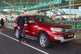Carhood founder with Ford Everest