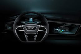 Audi A8 virtual dashboard