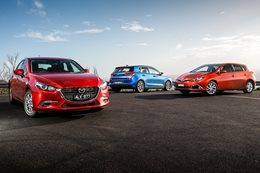 Hyundai i30 Active v Mazda 3 Maxx v Toyota Corolla Ascent Sport comparison review