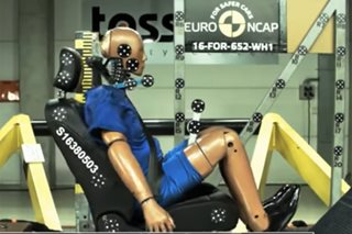 Fat crash test dummy