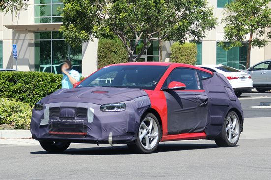 2018 Hyundai Veloster spotted testing