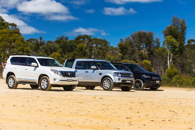 Jeep's Grand Cherokee CRD, Land Rover's Discovery TDV6 and Toyota's Prado D-4D