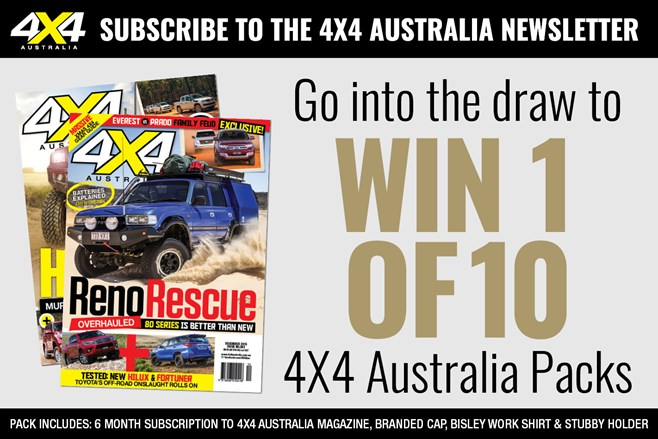 WIN 1 of 10 4X4 Australia Packs!
