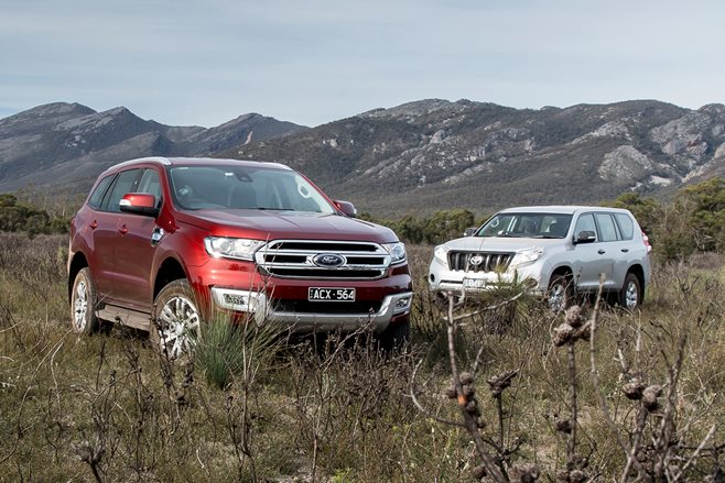 Ford Everest Trend vs Toyota Prado GX review