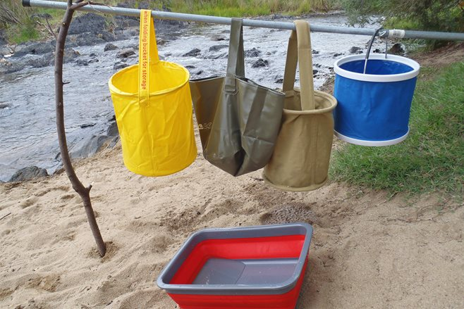 Product test: Collapsible buckets